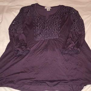 Liz Claiborne purple top